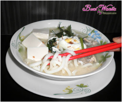 resepi mudah dan cara masak mee udon mi udon sup soya ayam dan tofu lembut sedap