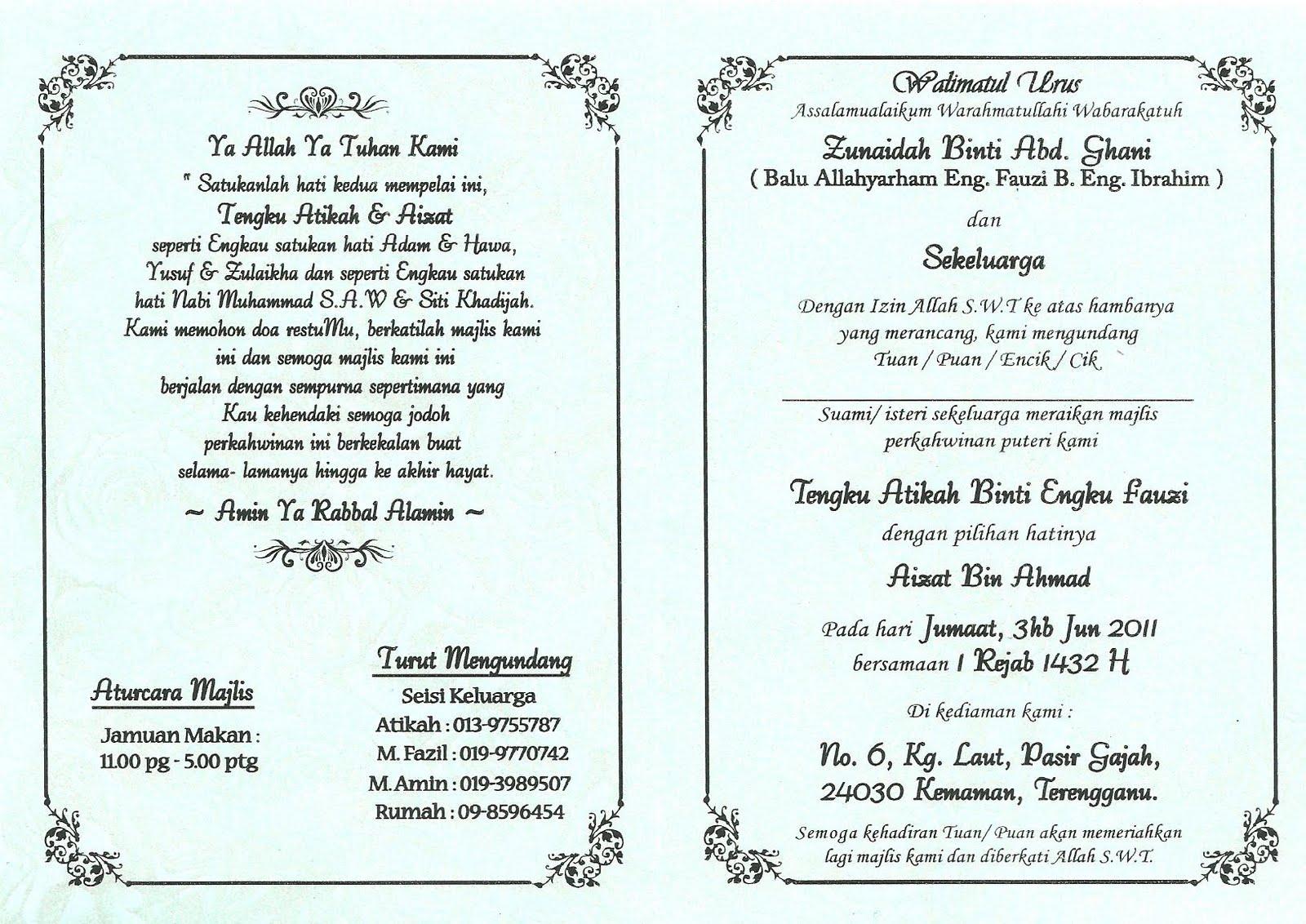 Koleksi kad kahwin dan cenderahati: tempahan kad kahwin terbaru