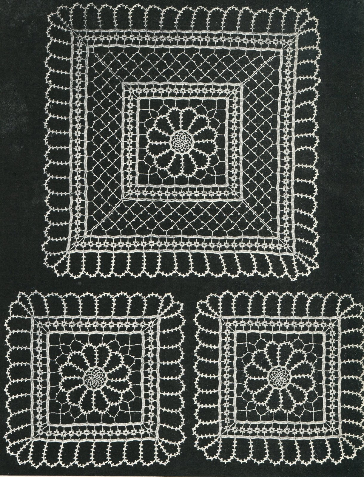 Crocheted Lace Pattern From Star Book Of Crochet Designs No1 1935