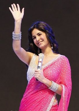 katrina kaif wearing pink saree