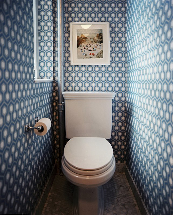 10 fancy toilet decorating ideas via Lonny