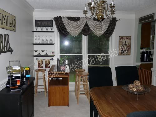 We Started Out With A Formal Dining Room And Never Ever Used It So Turned Into Fun Bar Area That Overlooked The Playroom