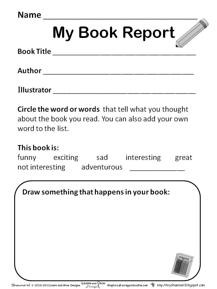 8th grade book report format