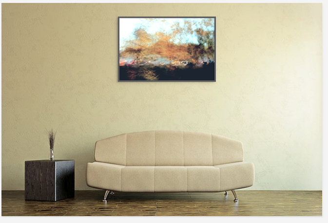 Interior with art photography,foto print,photo,decoration with picture