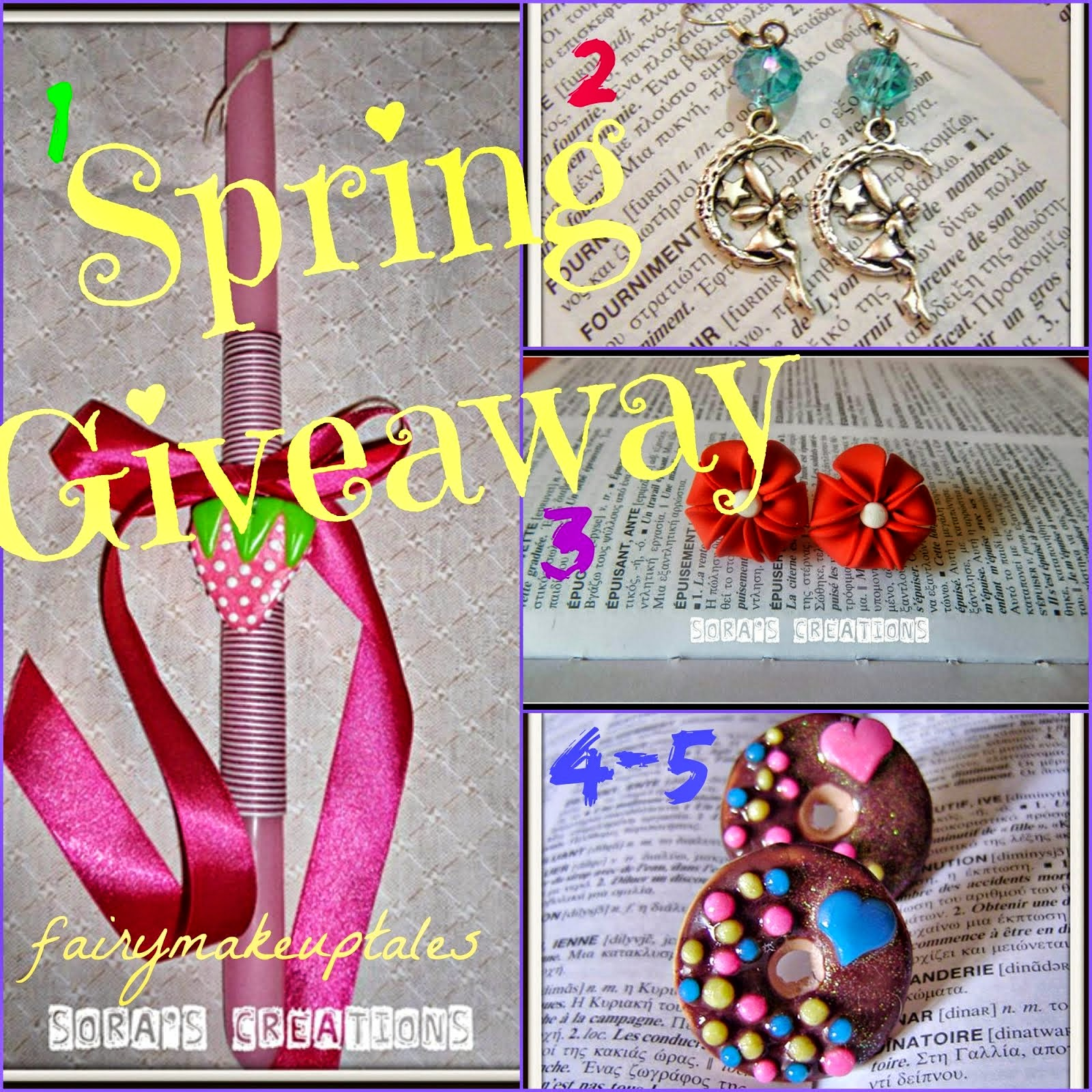 Spring Giveaway with 5 handmade creations!