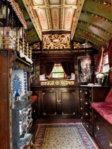 Gallery For gt Inside Gypsy Wagon