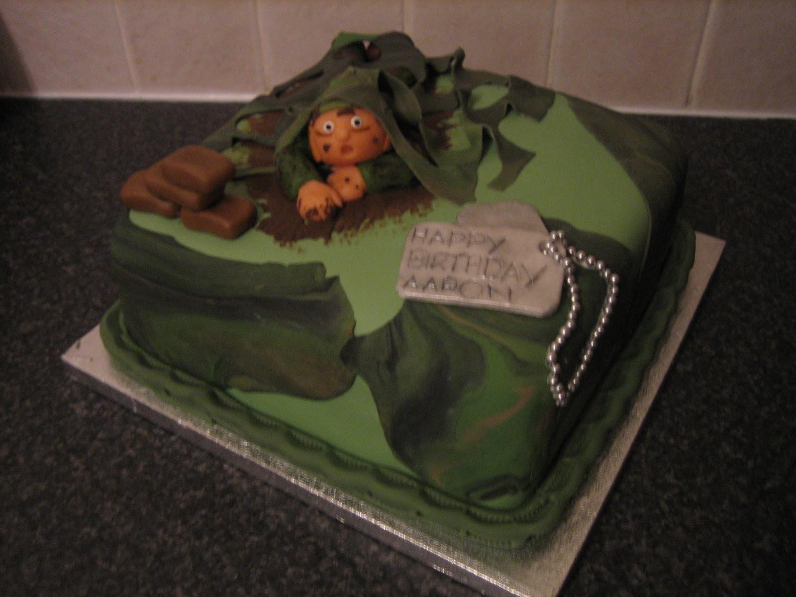 Sarah T Cakes Army Style Cake