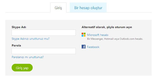 Skype Oturum Aç