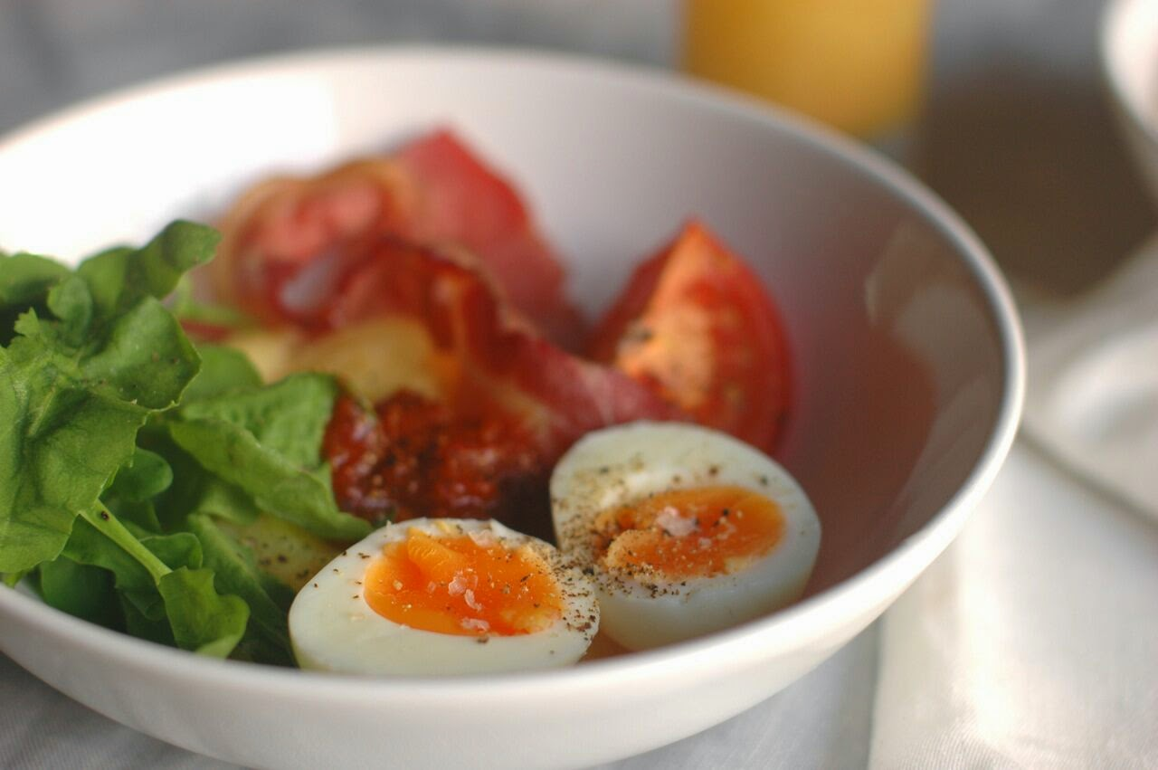 http://www.wholefoodshouse.com.au/recipe-polenta-with-bacon-boiled-eggs/