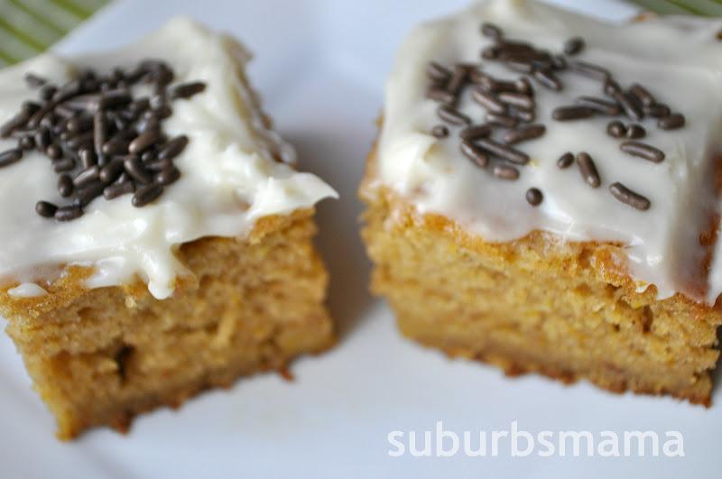 Suburbs Mama: Pumpkin Bars
