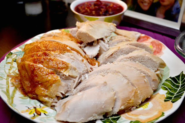 brined and roasted turkey recipe thanksgiving