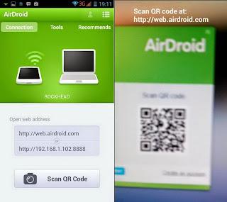 Kamera android sebagai Pemindai kode QR