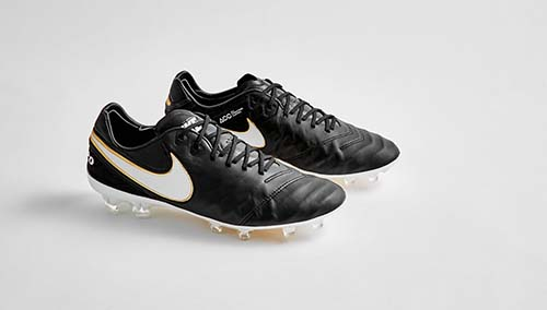 Nike Tiempo 6 with Black and Metallic Gold