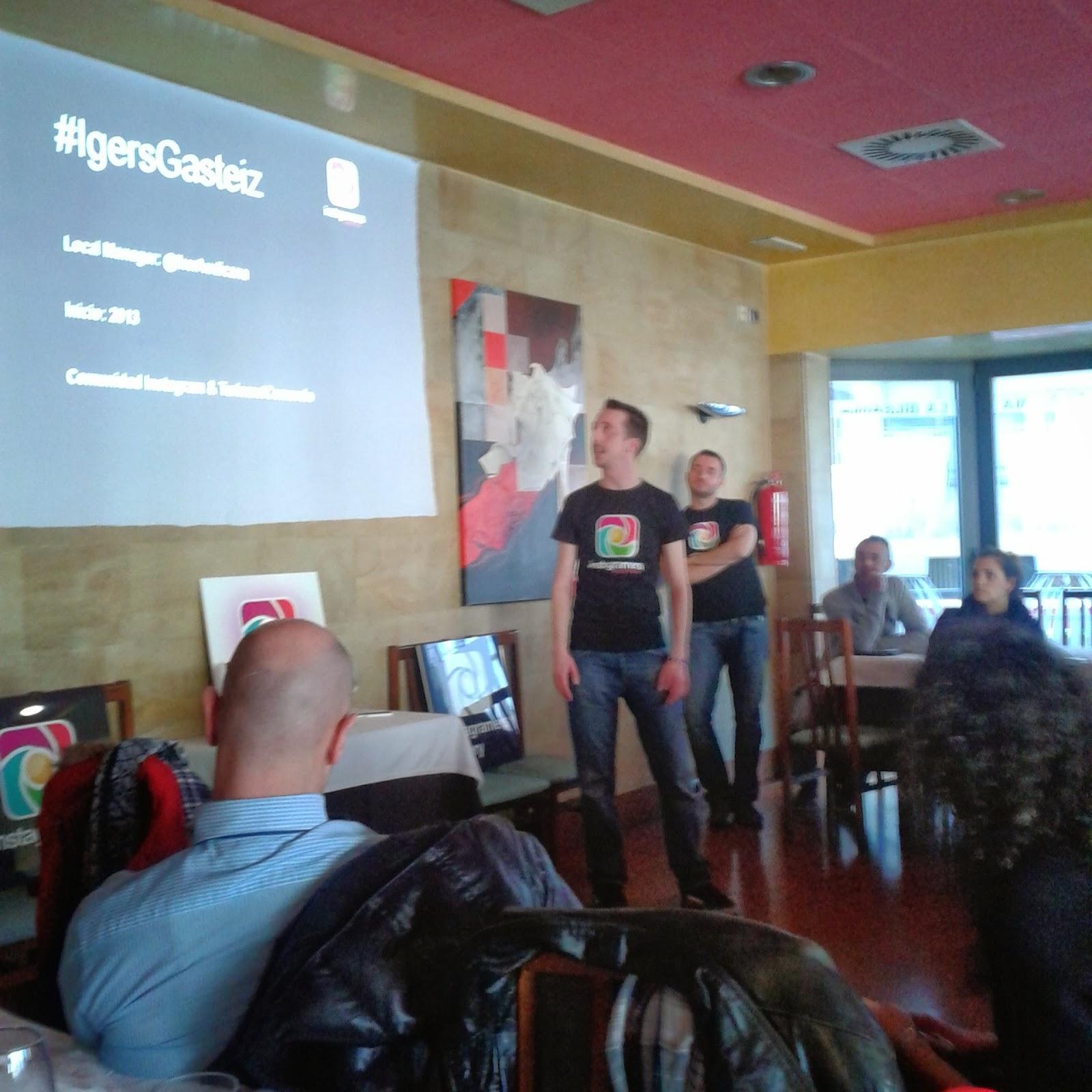 Imagen de Iker Audicana en la Presentación del Taller Igers Gasteiz