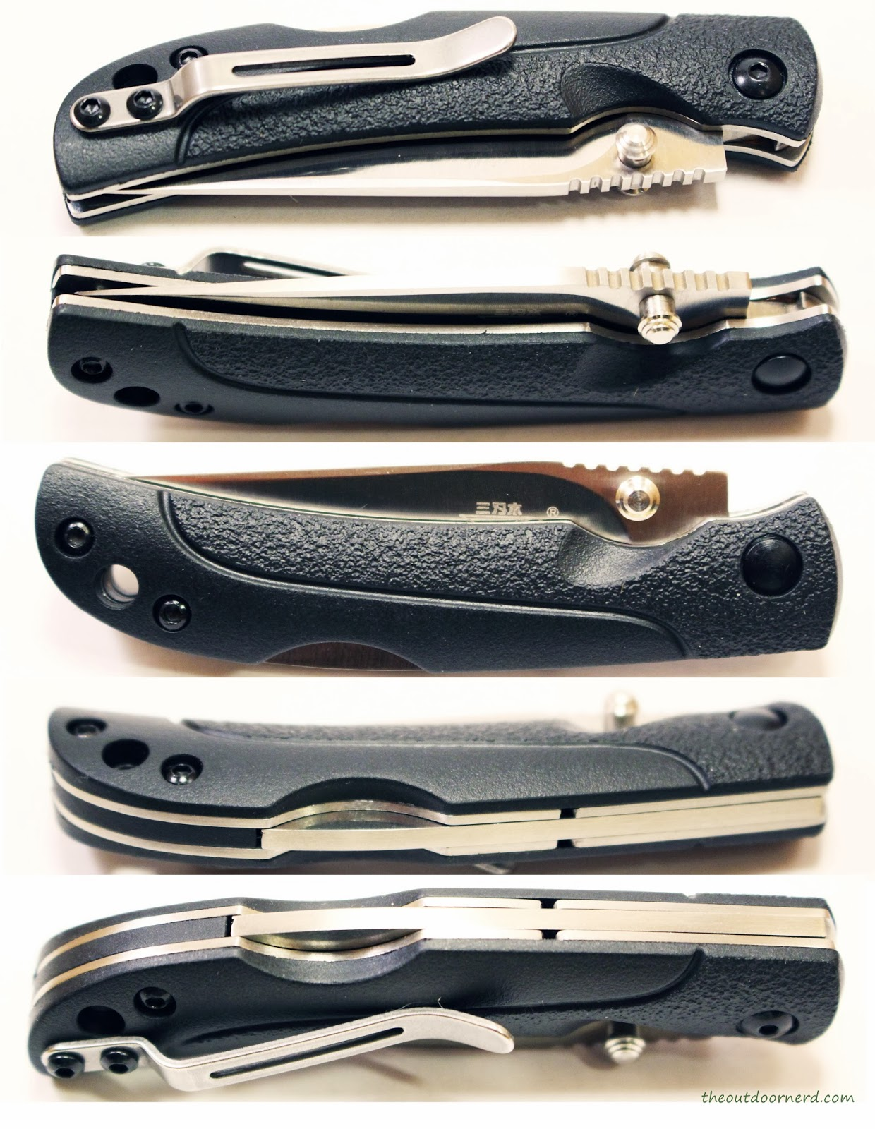 SanRenMu ZB-681 Pocket Knife - Multi-View Closed