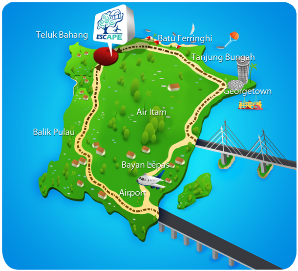 Map of Escape Penang