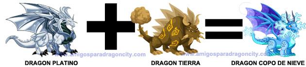 como conseguir el dragon copo de nieve en dragon city combinacion 3