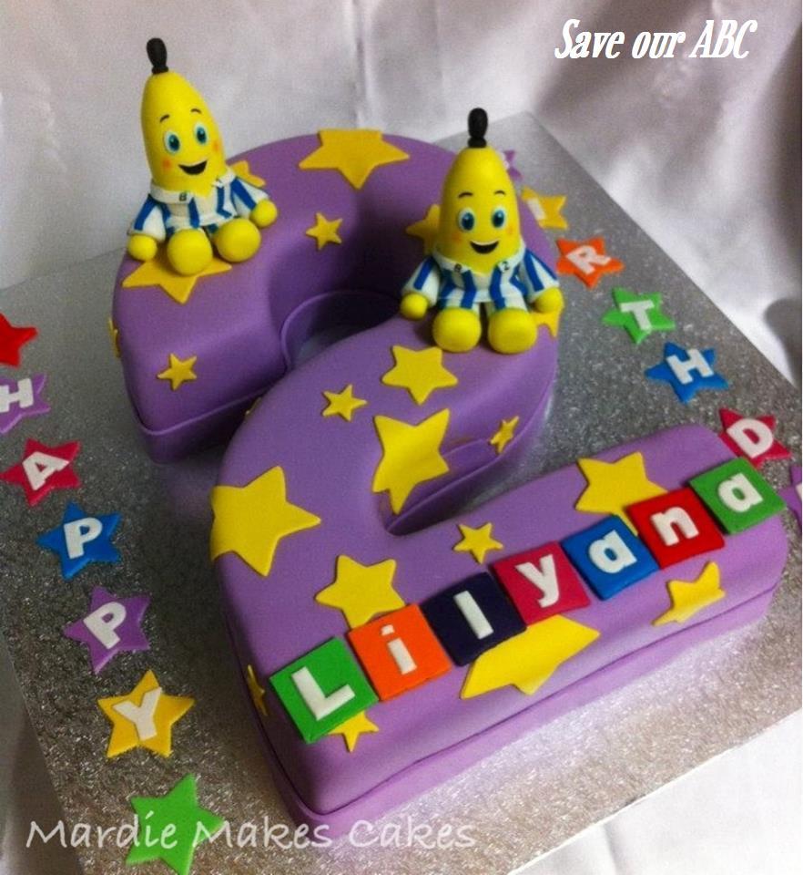 Bananas In Pyjamas  Cake Save Our ABC