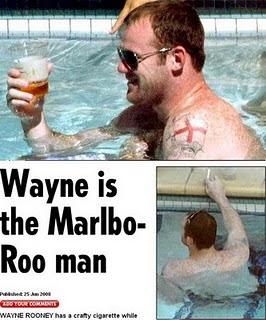 Rooney smoking