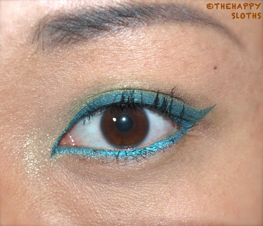 Eotd Blue And Green Eye Makeup The Happy Sloths Beauty Makeup