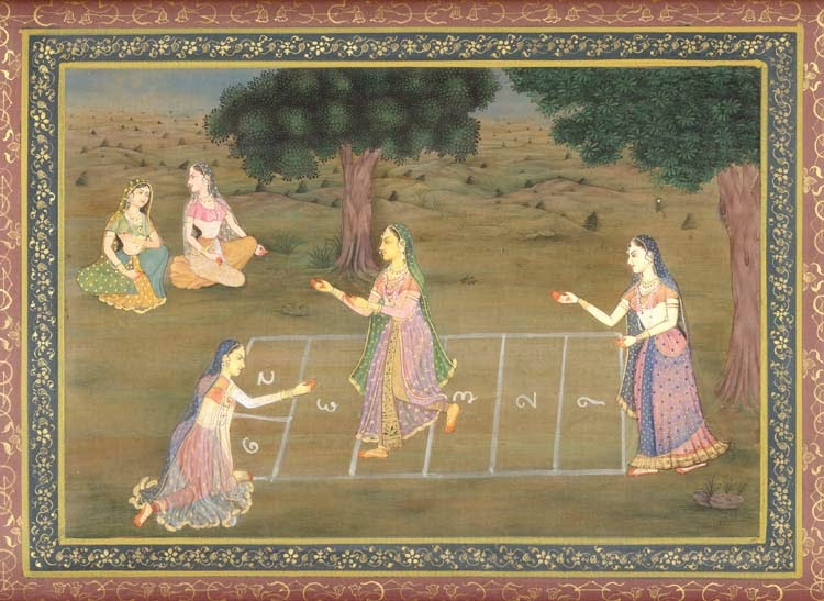 Permainan Tradisional Engklek - Ilustrasi Engklek Kuno