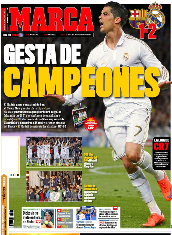 real madrid tv barcelona r madrid portadas de marca y as