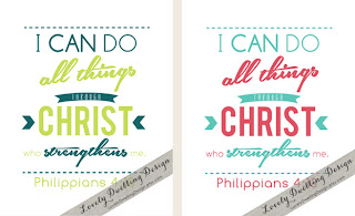 Color variations for Philippians 4:13