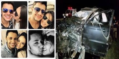 Urgente!!! Cantor Cristiano Araújo e sua namorada morrem após acidente de carro! Confira a matéria...