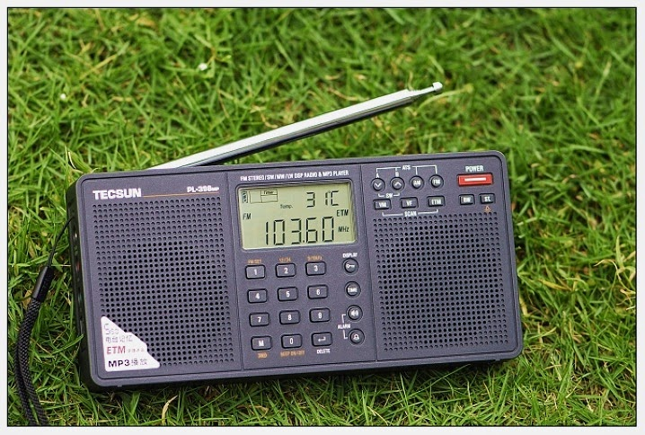 Цифровой радиоприемник Tecsun PL-398MP c двумя встроенными димнамиками и MP 3 плеером работающим от SD карточки