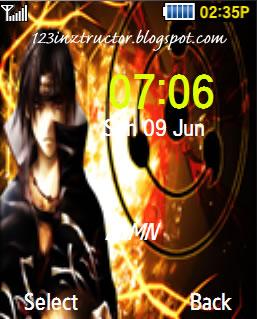Samsung GT-C5010 Naruto Itachi Theme Download Wallpaper