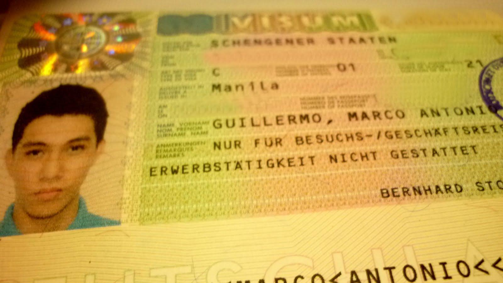 Penampakan Visa Schengen di halaman paspor