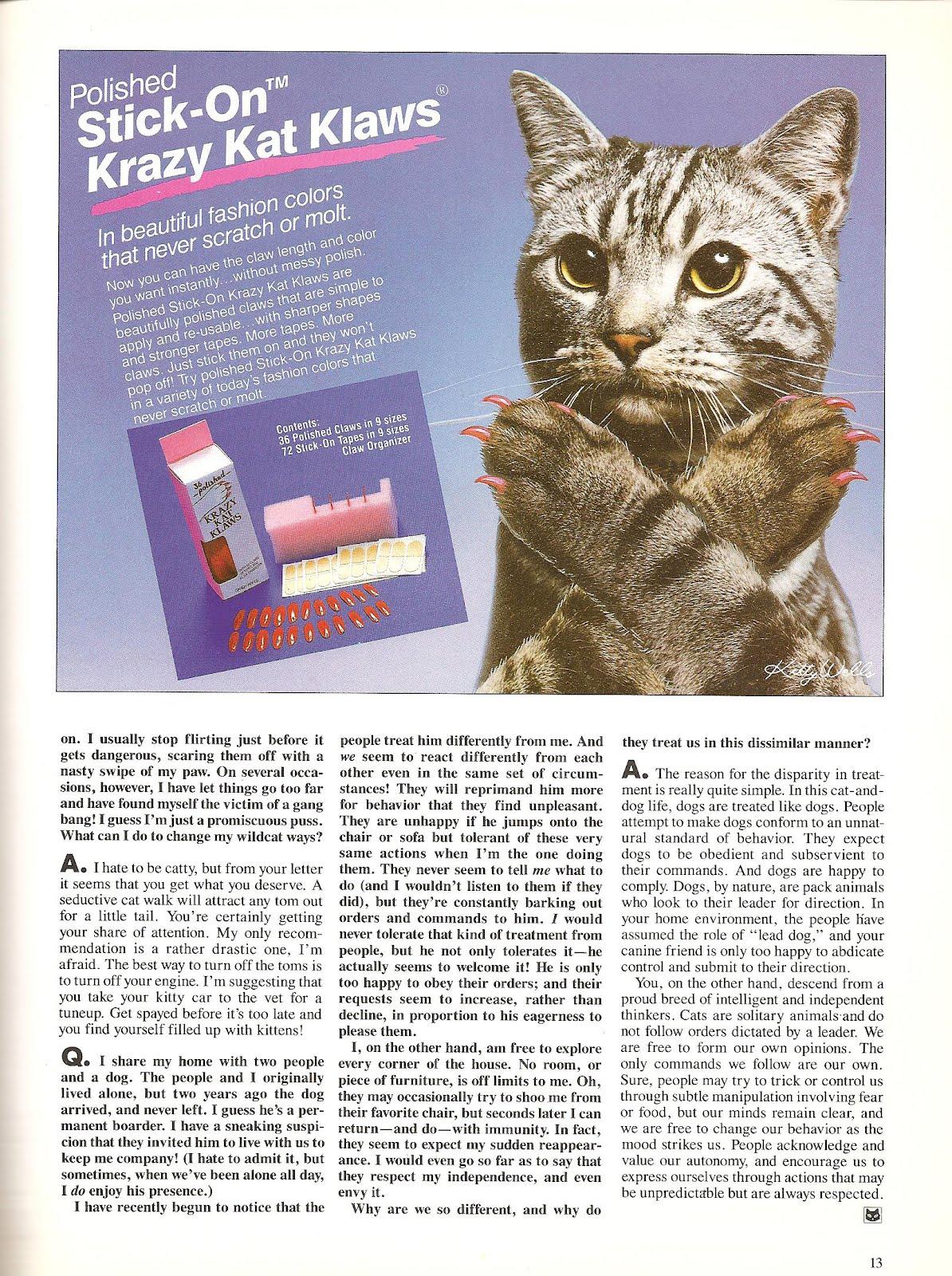 Catsparella Vintage Catmopolitan Magazine Gives Real