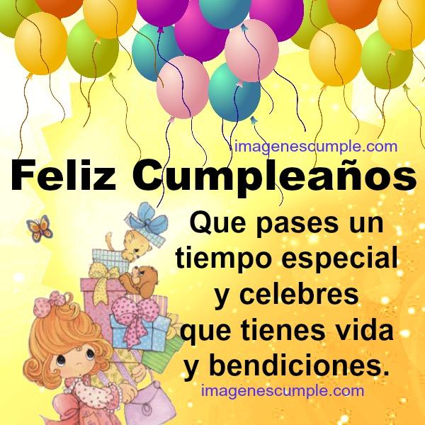 Bella Tarjeta de cumpleaños para una amiga querida, felicidades en cumple, imagen bonita de feliz cumpleaño por Mery Bracho.