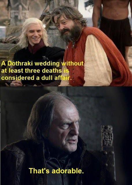 boda roja boda dothraki - Juego de Tronos en los siete reinos