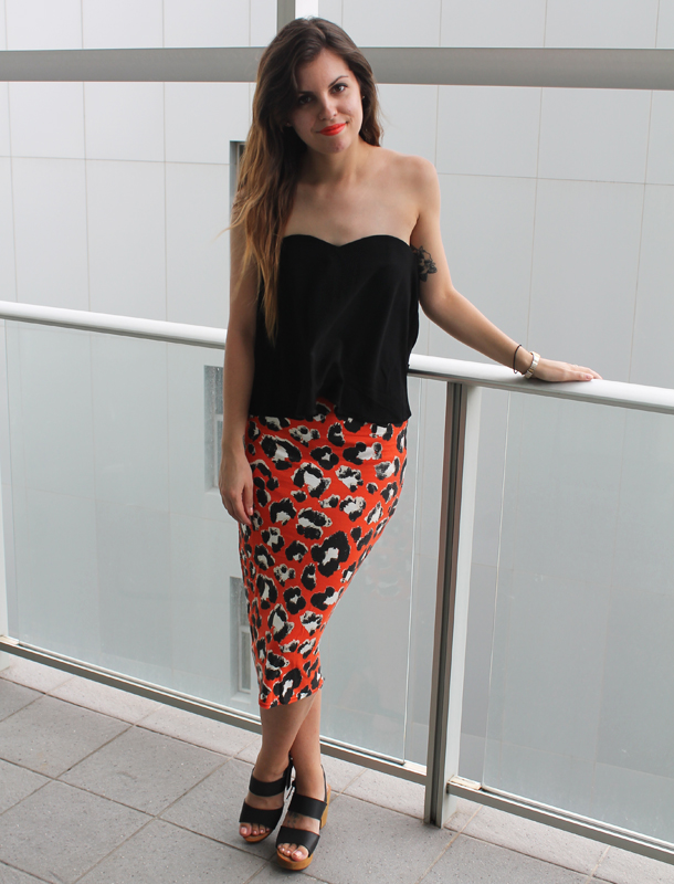 Sweet Monday, Outfit, Gosh Celebrity Fashion, Missguided leopard print midi skirt