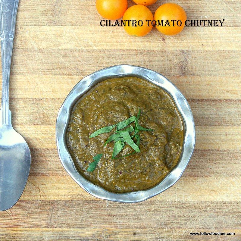 Cilantro Tomato Chutney