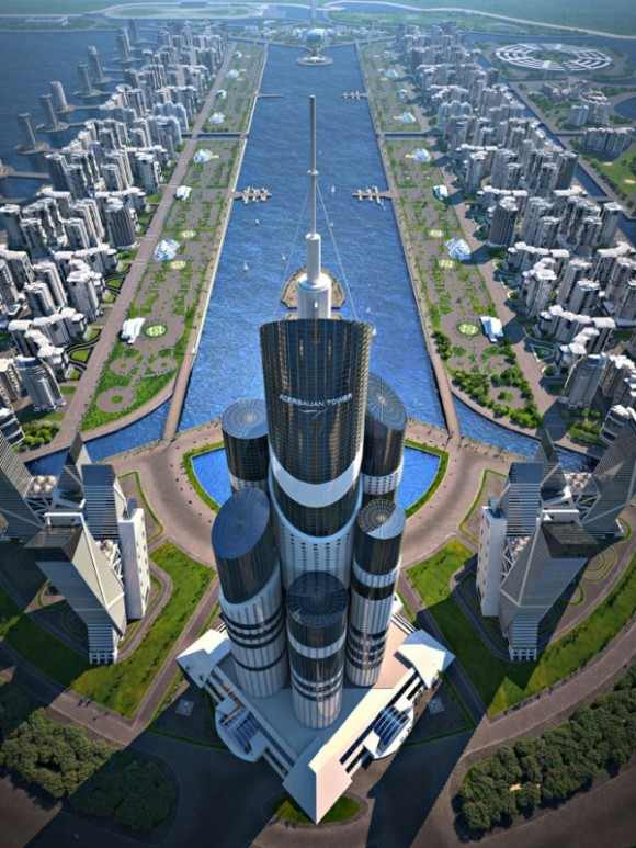 Azerbaijan tower: The Tallest Tower in the world, up to 1050 m and cost two billion $