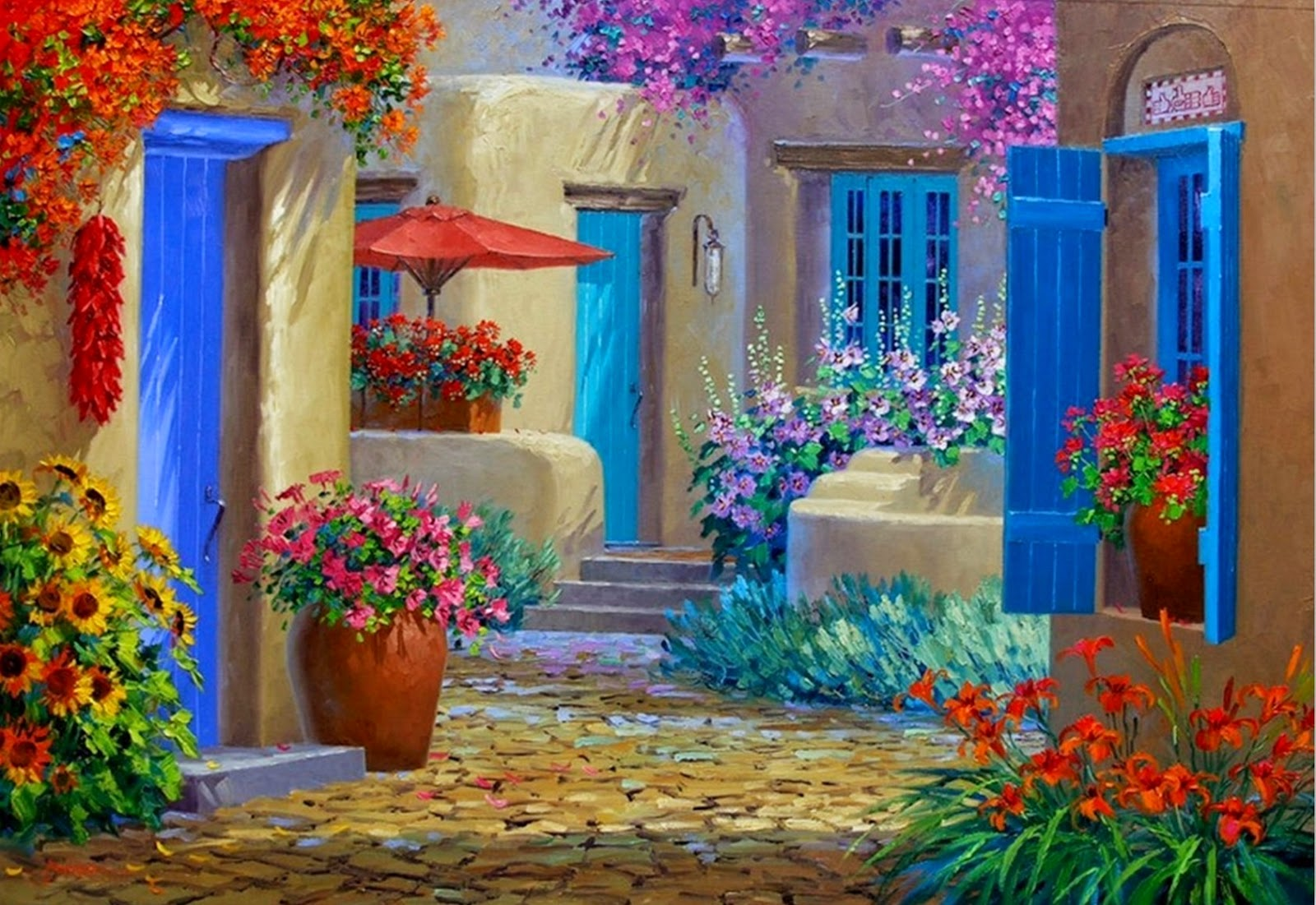 Pintura moderna y fotograf a art stica flores cuadros - Los cuadros mas bonitos ...