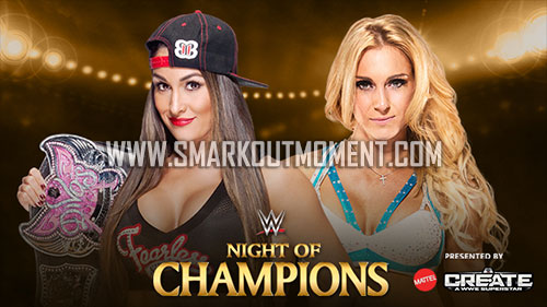 WWE Night of Champions 2015 Divas Title Match Charlotte vs Nikki Bella