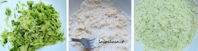 Pastella frittelle di zucchina