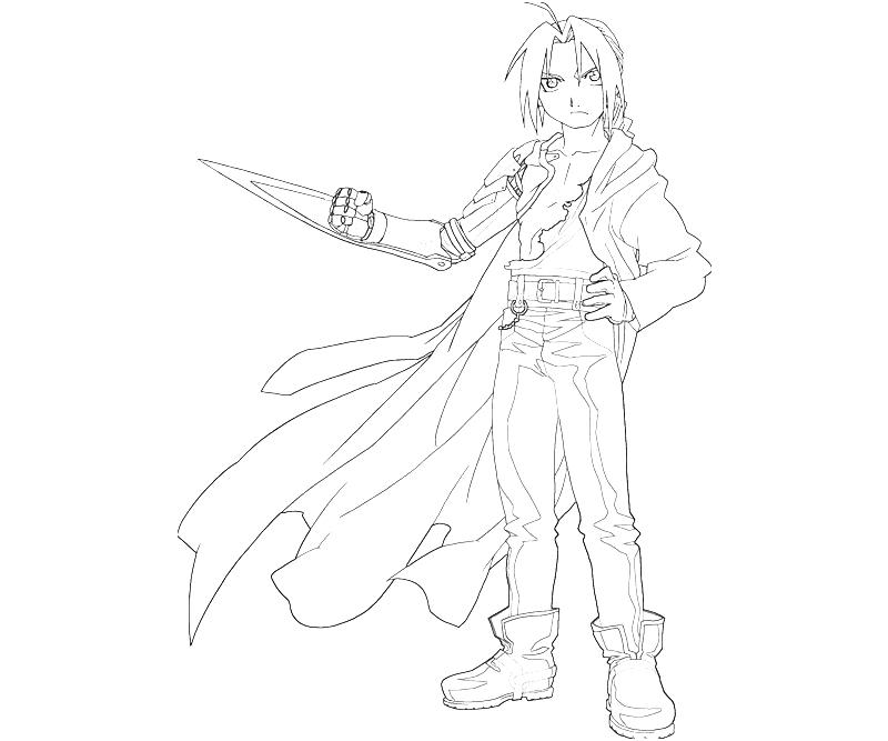 free fullmetal alchemist coloring pages - photo#33