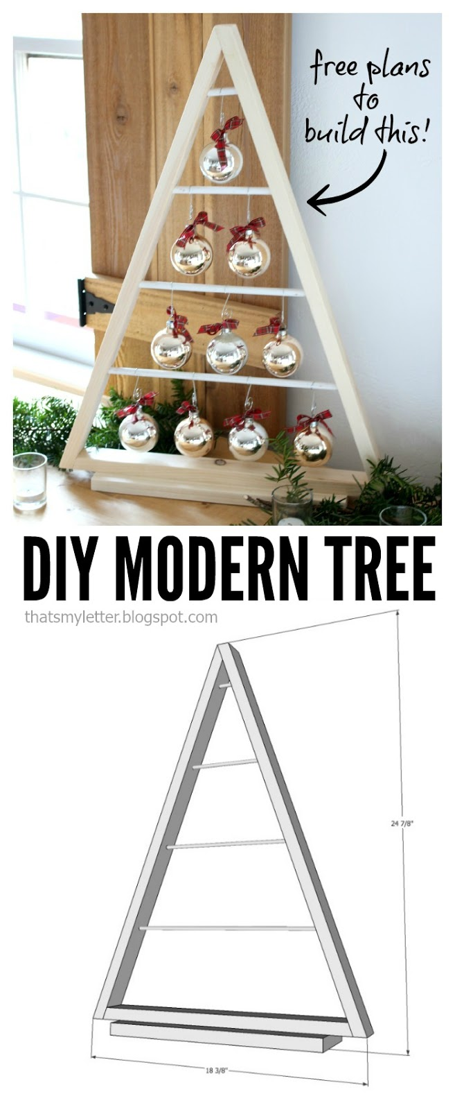Bake craft sew decorate diy modern tree with ornaments for Diy modern christmas decorations