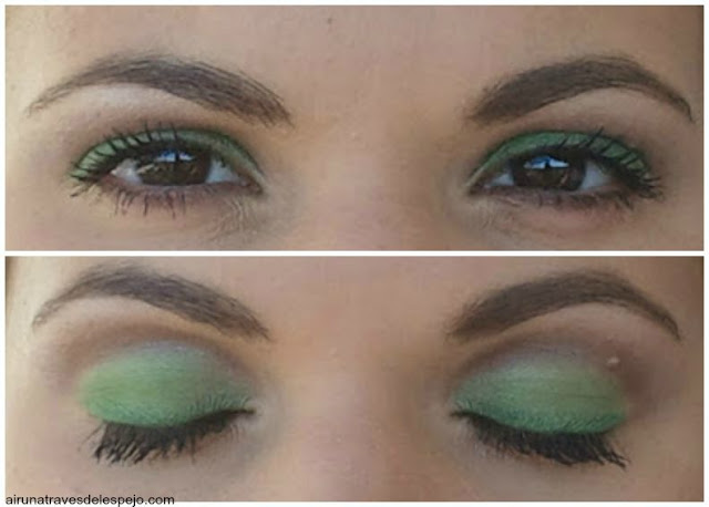 maquillaje look ojos verdes