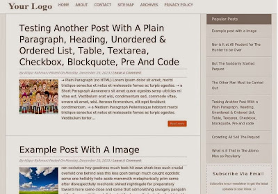 Orange Responsive Blogger Template