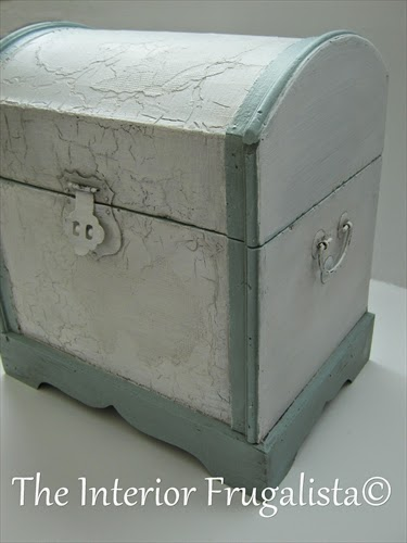 Small decorative trunk makeover After