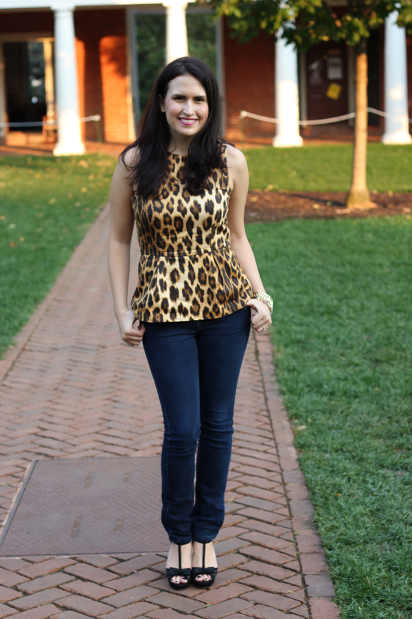fashion blog leopard print top