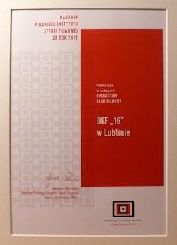 Nominacja do nagrody PISF-u w kategorii DKF