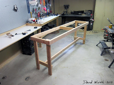 diy how to make a wood 2x4 bench for shop, tools, nails, simple, strong