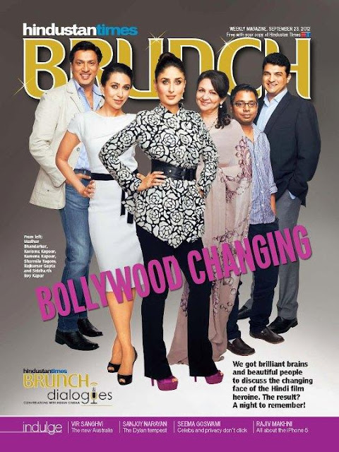 Kareena, Sharmila, Karishma on the cover of HT Brunch Dialogues Cover 2012
