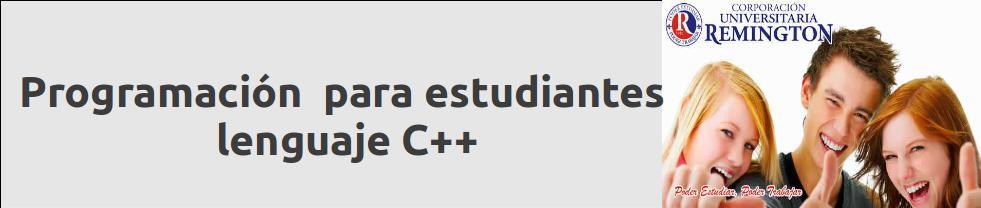 Programación Lenguaje C++ para estudiantes